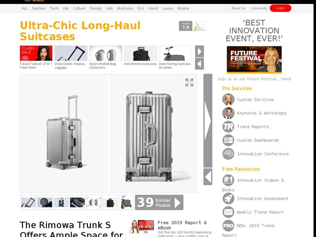 Ultra-Chic Long-Haul Suitcases - The Rimowa Trunk S Offers Ample Space for All Your Gear (TrendHunter.com)