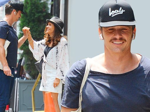 James Franco holds hands with his mother Betsy in NYC