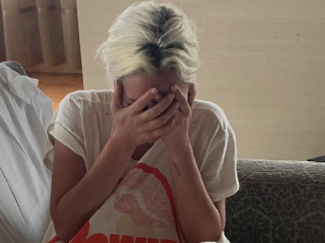 Lady Gaga shared a photo of the emotional moment she found out she'd won a BAFTA while getting ready for the Grammy's