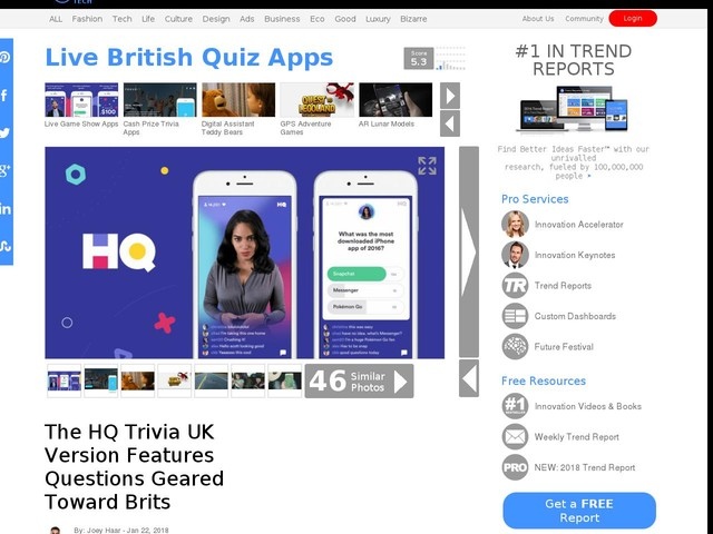 Live British Quiz Apps - The HQ Trivia UK Version Features Questions Geared Toward Brits (TrendHunter.com)