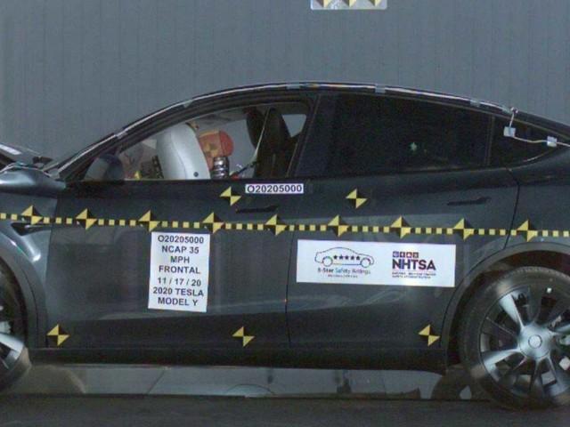 Tesla Model Y Scores 5-Star Safety Rating In NHTSA Crash Test