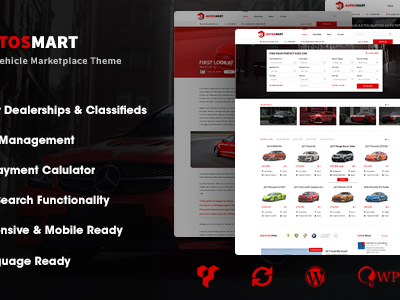 AutosMart - Automotive Car Dealer WordPress Theme (Directory & Listings)