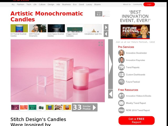 Artistic Monochromatic Candles - Stitch Design's Candles Were Inspired by Mallory Page's Art (TrendHunter.com)