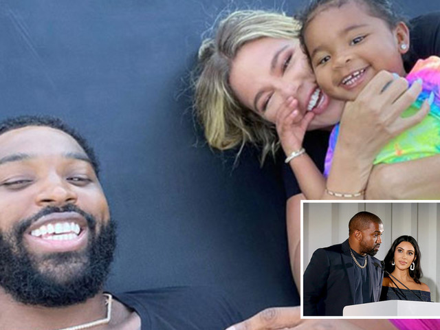 Khloe Kardashian and baby daddy Tristan Thompson 'want another baby' as Kim and husband Kanye's marriage falls apart