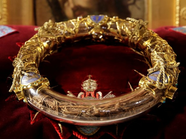 The Crown of Thorns purportedly worn by Jesus on the cross was among precious artifacts saved from the Notre-Dame inferno by firefighters