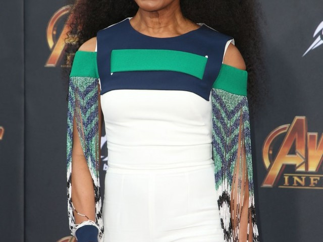 Angela Bassett in a white jumpsuit at the 'Infinity War' premiere: amazing?