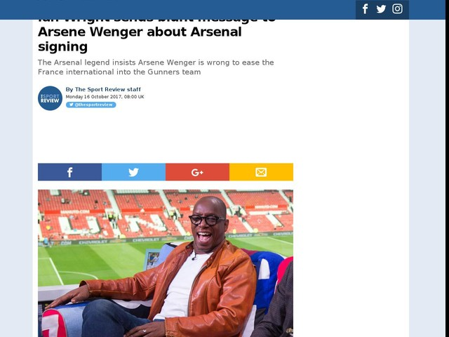 Ian Wright sends blunt message to Arsene Wenger about Arsenal signing