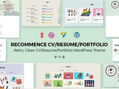 Recommence | Retro Resume WordPress Theme (Portfolio)