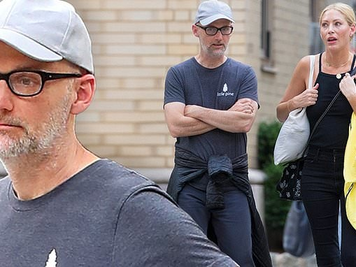 Moby steps out with muse Julie Mintz during first sighting since cancelling his UK book tour