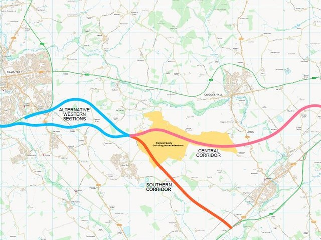 Four routes confirmed as still in running for new A120 between Braintree and Marks Tey