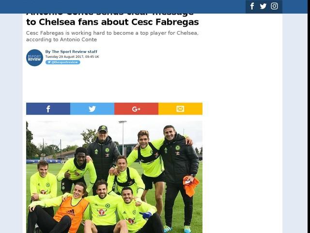 Antonio Conte sends clear message to Chelsea fans about Cesc Fabregas