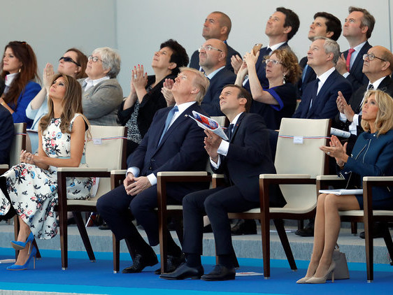 Donald Trump's Hair Performs A Jig Of Its Own To Daft Punk's Get Lucky On Bastille Day