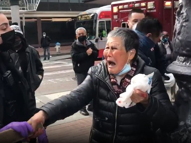 Witnesses: Elderly Asian Woman Beats Up Man Attacking Her In San Francisco