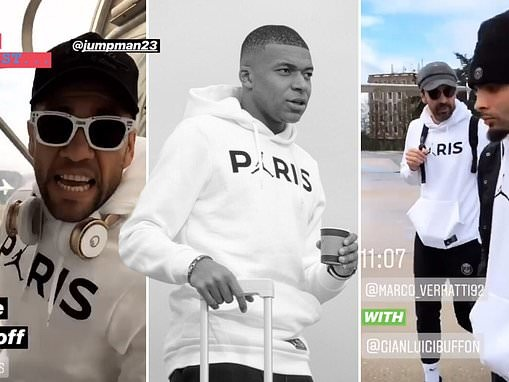PSG stars jet off to Manchester ahead of crunch Champions League last 16 clash