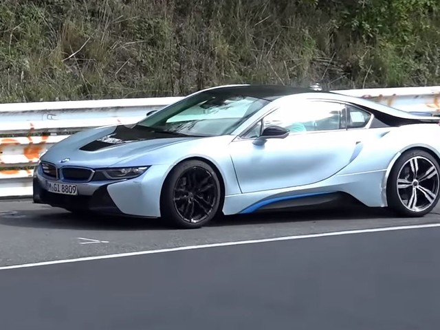 Video: Beefed Up BMW i8 Prototype Spotted on Nurburgring