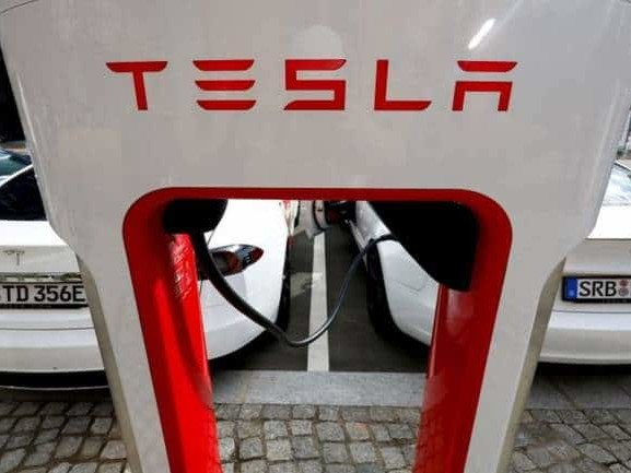 Auto parts makers#39; shares gain on report of talks with Tesla