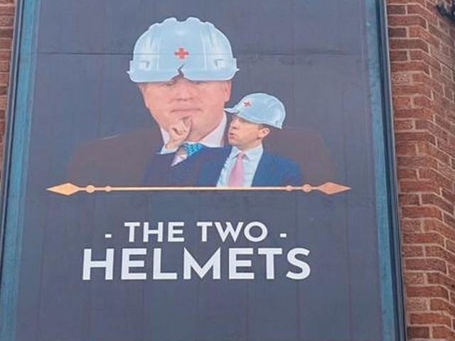 Three Bellends pub renamed The Two Helmets in a fresh dig at the Tories