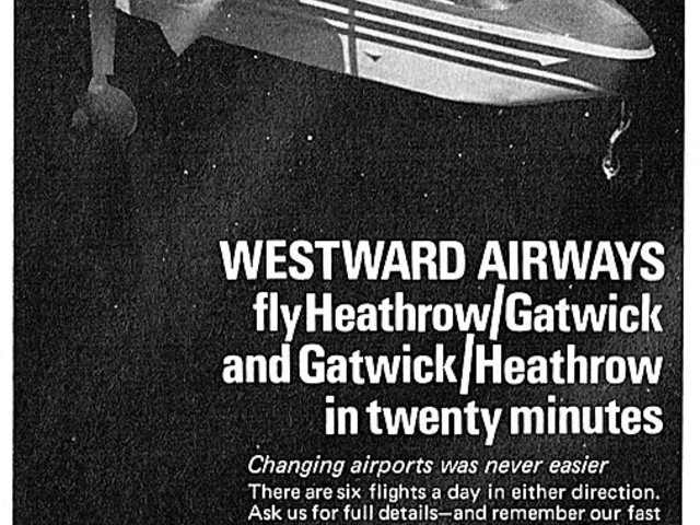 50 years ago – planes start flying between Heathrow and Gatwick