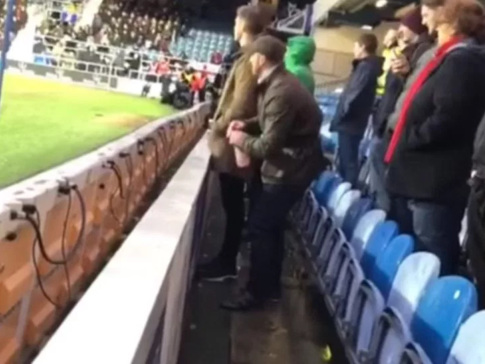 P*ss Take: Disgusting Middlesbrough Fan Arrested And Charged After Urinating In QPR Goalkeeper's Water Bottle