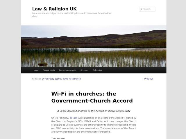 Wi-Fi in churches: the Government-Church Accord