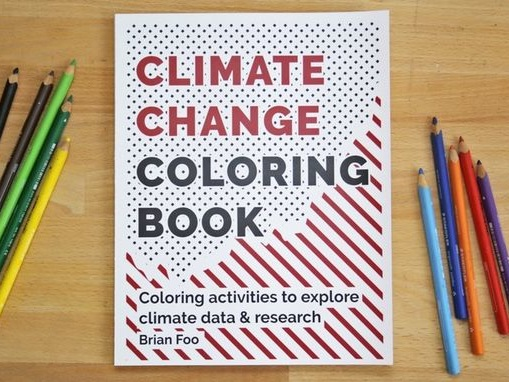 Climate Change Coloring Books - Brian Foo's Climate Change Coloring Book Highlights the Environment (TrendHunter.com)