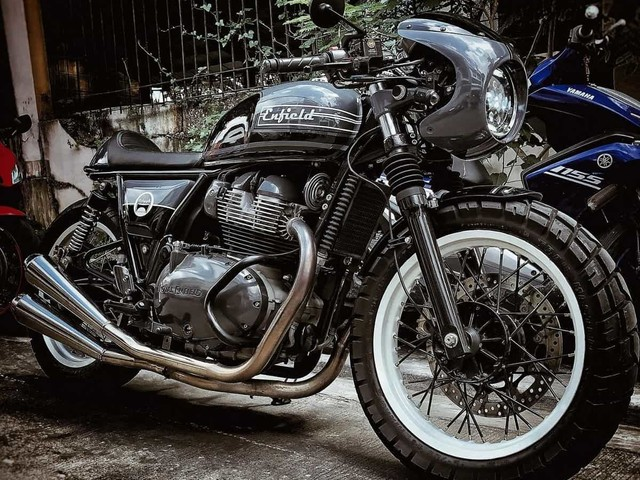 Check Out This Custom-Built Royal Enfield 650 Cafe Racer