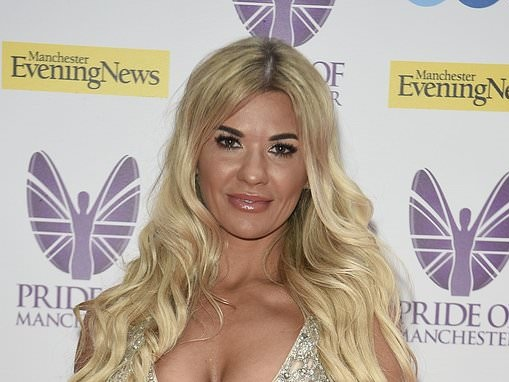 f787f629de3c Christine McGuinness puts on a VERY busty display in bejewelled princess  gown