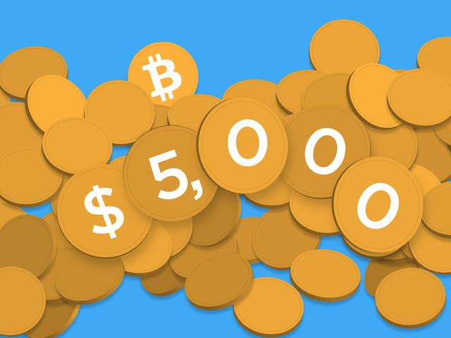 Bitcoin just passed $5,000