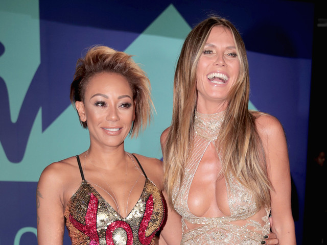 AGT's Heidi Klum & Mel B Flaunt Cleavage at MTV VMAs 2017