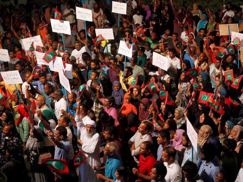 Maldives president declares emergency, former leader arrested