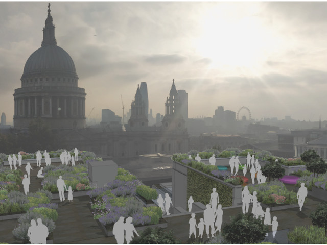 Another public roof garden planned near St Paul's Cathedral