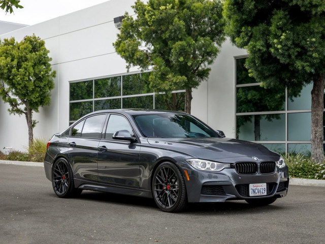 Mineral Gray Metallic BMW F30 335i with aftermarket Carbon Graphite wheels