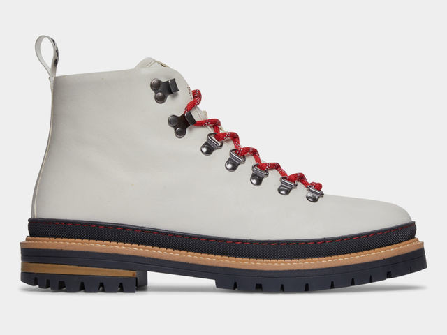 Stark White Hiker Footwear - The Greats Dante White Leather Boots are Made with Premium Components (TrendHunter.com)