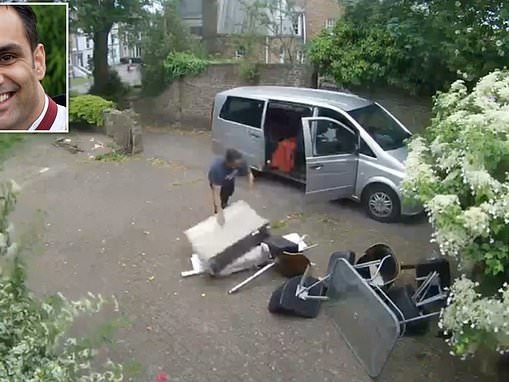 Former police officer caught on camera flytipping carload of rubbish on stranger's driveway