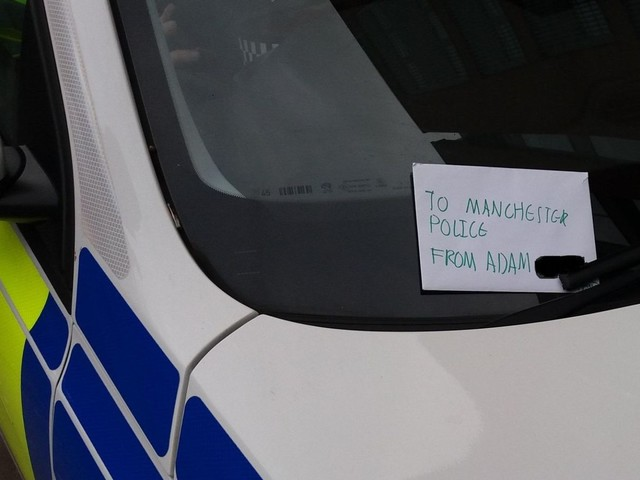 Boy leaves heartwarming note for police officers