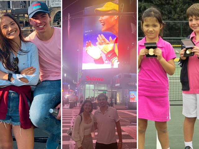 Emma Raducanu poses in New York with long-time friend who was with her at US Open with parents not allowed to travel