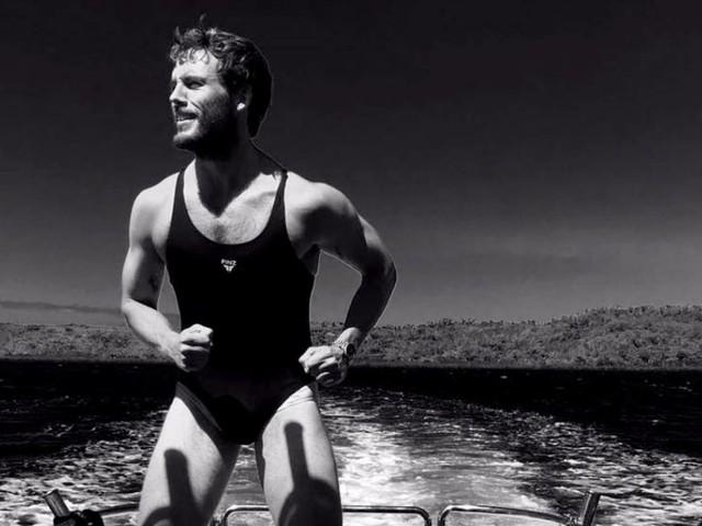 Sam Claflin Squeezes Into Shailene Woodley's Bathing Suit in Hilarious Instagram Photos
