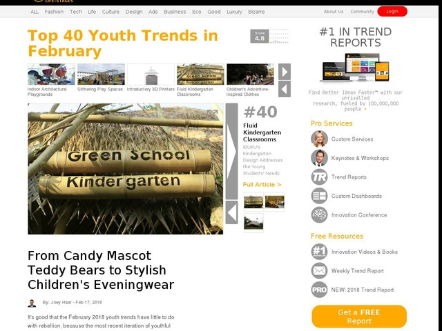 Top 40 Youth Trends in February - From Candy Mascot Teddy Bears to Stylish Children's Eveningwear (TrendHunter.com)