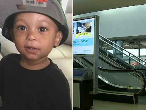 Mom charged with child abuse after son, three, fell to his death from Charlotte Airport escalator