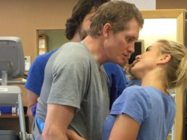 Husband Stands To Kiss Wife For First Time After Car Accident And It'll Make You Cry