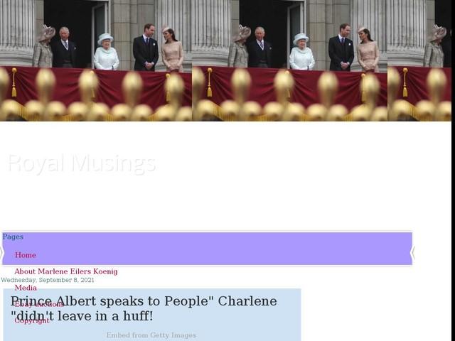 "Prince Albert speaks to People"" Charlene ""didn't leave in a huff!"