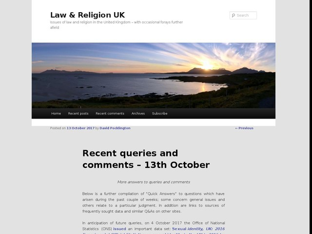 Recent queries and comments – 13th October