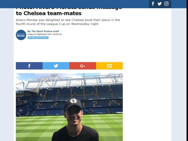 Photo: Alvaro Morata sends message to Chelsea team-mates