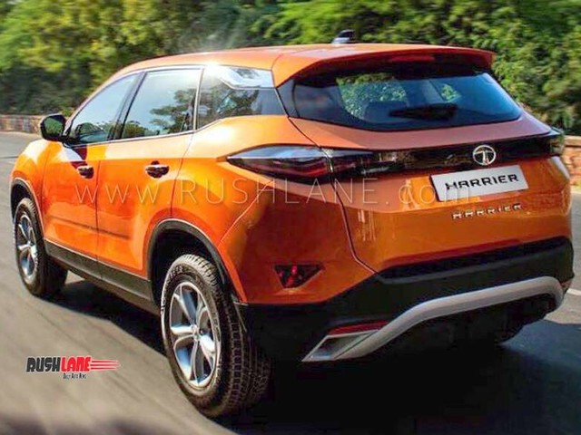 Tata Harrier rear design officially revealed for the first time before launch