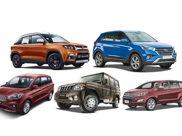 Bestselling SUVs, MPVs in India in April 2019