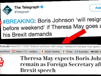 Telegraph's Boris Story Back From the Brink