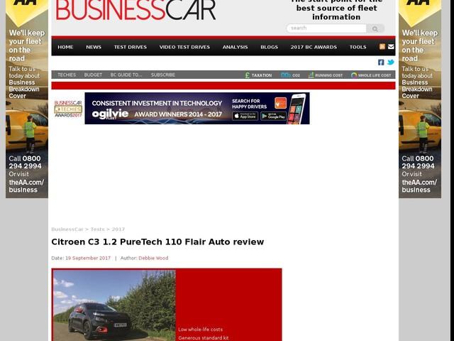 Citroen C3 1.2 PureTech 110 Flair Auto review