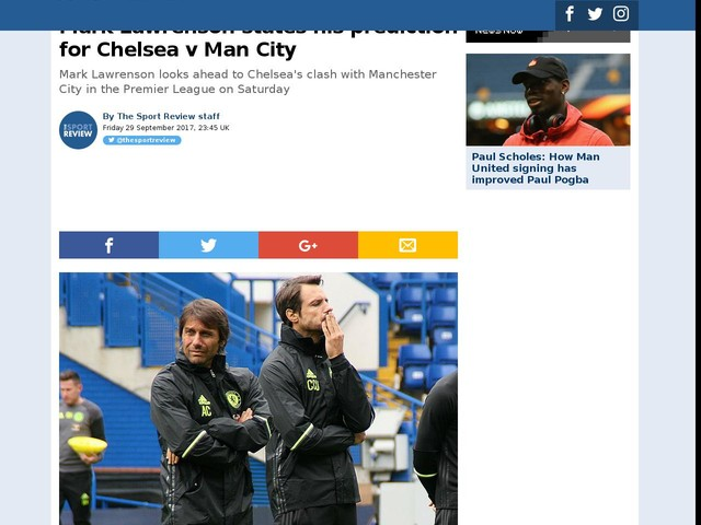 Mark Lawrenson states his prediction for Chelsea v Man City