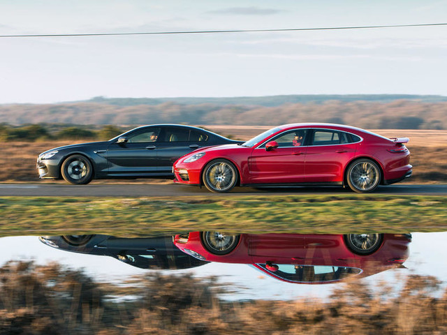 Porsche Panamera Turbo v BMW M6 Gran Coupe v Mercedes-AMG S63 Coupe