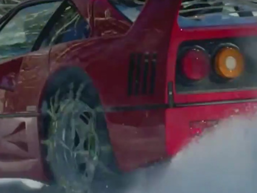 Watch This Driver Drift a Ferrari F40 in the Snow Like a Hero